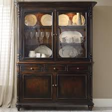 antique hutch with glass doors buffet and hutch with 2 seeded glass doors by hooker furniture