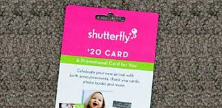 free 20 gift card from shutterfly back buddy and keepsake club