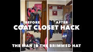 coat closet hack youtube