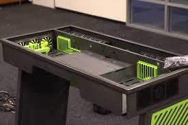 Wooden Gaming Desk by Desk Pc Case Diy Muallimce
