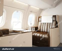 photo interior luxury private airplane empty stock illustration