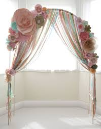 wedding arches uk paper flower wedding ceremony arch with ribons www thingsbylaura