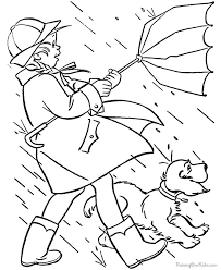 Rainy Day Coloring Sheets The Pooh In Page Free Printable Best Rainy Day Coloring Pages