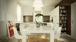 small eat kitchen ideas recessed downlights white exposed brick living room eat kitchen ideas for small kitchens round chromed pendant lamps black white cabinet wooden barstools cork floor