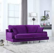 amazon com ultra modern plush velvet living room sofa purple