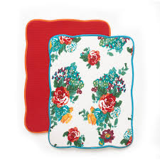 pioneer woman timeless floral dish drying mats pack 4