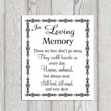 wedding memorial sign in loving memory printable memorial table wedding memorial