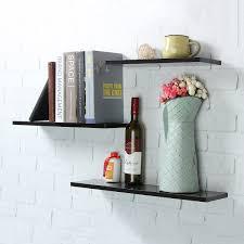 online get cheap wooden wall hanging shelf aliexpress com