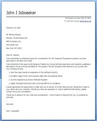 programmer sample resume computer programmer cover letter sample