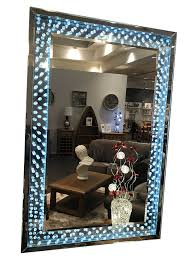 light up wall mirror led light up wall mirror with crystal encased frame comfortzone