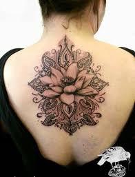 artistic large lotus flower design on back lotus flower - Large Flower Tattoos On