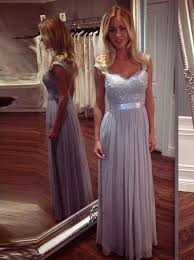 lace and chiffon bridesmaid dresses buy a line square cap sleeves grey chiffon bridesmaid dress with