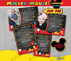 mickey mouse clubhouse birthday invites chalkboard mickey mouse clubhouse birthday invitation