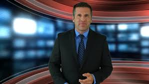 black friday suit sale a newscaster introduces a generic black friday sale for any