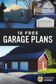 18 free diy garage plans with detailed drawings and instructions 18 free diy garage plans