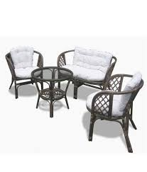 Cheap Sofa Sets Online In India Amour Brown Cane Sofa Set Buy Amour Brown Cane Sofa Set Online