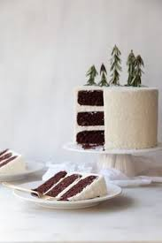 classic chocolate cake with whipped white chocolate peppermint