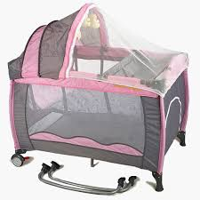 new all in 1 deluxe baby portable travel cot portacot playpen crib