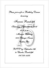 Formal Invitations Formal 75th Birthday Party Invitations