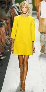 love this bright yellow dress by michael kors mellow yellow
