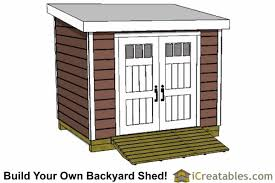 Plans To Build A Wooden Shed by 7x10 Lean To Shed Plans Storage Shed Plans Icreatables Com