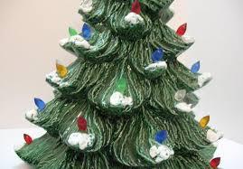 Vintage Atlantic Mold Ceramic Christmas Tree by Vintage Ceramic Christmas Tree With Faux Plastic Lights Bottom