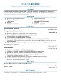 Best Information Technology Resume Templates by Best Medical Equipment Technician Resume Example Livecareer