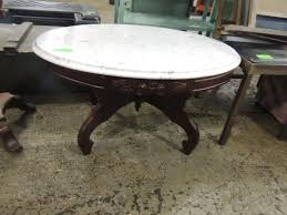 Kimball Victorian Furniture Reproductions by Kimball Victorian Marble Top Coffee Table