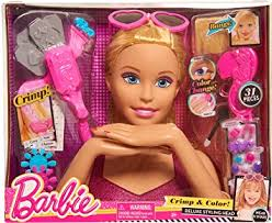 amazon play barbie color u0026 crimp blonde styling head