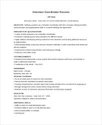 volunteer resume template 10 volunteer resume templates pdf doc free premium templates