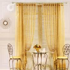 gold hollow out high end privacy sheer curtains bedroom ideas