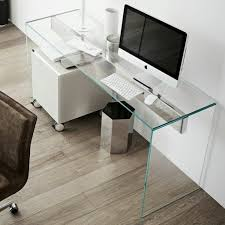 minimalist office desk glass desk the most beautiful accessory for your minimalist