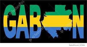 Gabon Map Gabon Text With Map Stock Illustration I1776810 At Featurepics