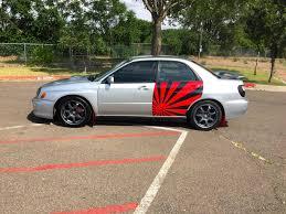 subaru wrapped wrx door wrap by aspect sign u0026 design truestreetcars com