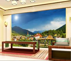 Wall Mural Sunrise In A Forest Wall Paper Self Adhesive Online Get Cheap 3d Room Wallpaper Mountains Aliexpress Com