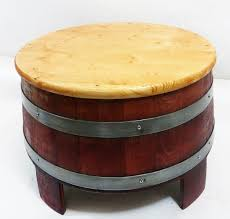 Wine Coffee Table Barrel Coffee Table And Side Table 24 Table Top