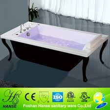 square freestanding clawfoot bath tub free jetted with four legs