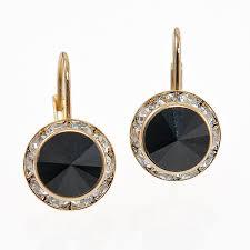 designer earrings rancho trading company ea560bk classic designer earrings
