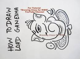 how to draw sketch cute ganesha drawing on paper tutorial youtube