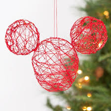 mickey string ornament disney family