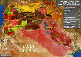Map Of Syria Conflict military situation in syria and iraq on june 3 2017 map update