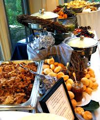 wedding bbq good table set up food party ideas appetizers