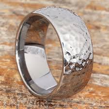 Mens Wedding Ring Metals by Hammered Tungsten Rings And Hammered Wedding Bands