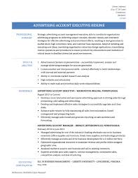 how to write interpersonal skills in resume advertising account executive resume tips templates and samples advertising account executive