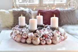 Wohnzimmertisch Vintage Selber Machen Xmas Diy Ein Adventskranz Aus Christbaumkugeln White And Vintage