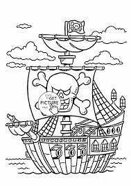 pirate ship coloring page for kids transportation coloring pages