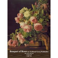 bouquet of roses cross stitch model bouquet of roses by ferdinand george waldmuller