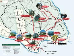 map of mackinac island trail maps for self guided bike tour
