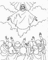 Coloring Page Of Jesus Ascension | ascension of jesus christ coloring pages sunday school bible and