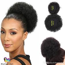 small afro puff buns hair pieces fashion human hair afro curly chignon ponytail bun donut short hair